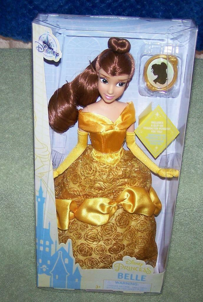 """Disney Princess BELLE 11""""H Classic Doll with Pendant New - $18.50"""