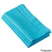 Fennco Styles Hemstitched Dinner Napkin, Set of 4 (turquoise) - $24.74