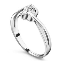 925 Sterling Silver Exquisite Fashion Angel Heart Soulmate Opening Ring ... - $17.99
