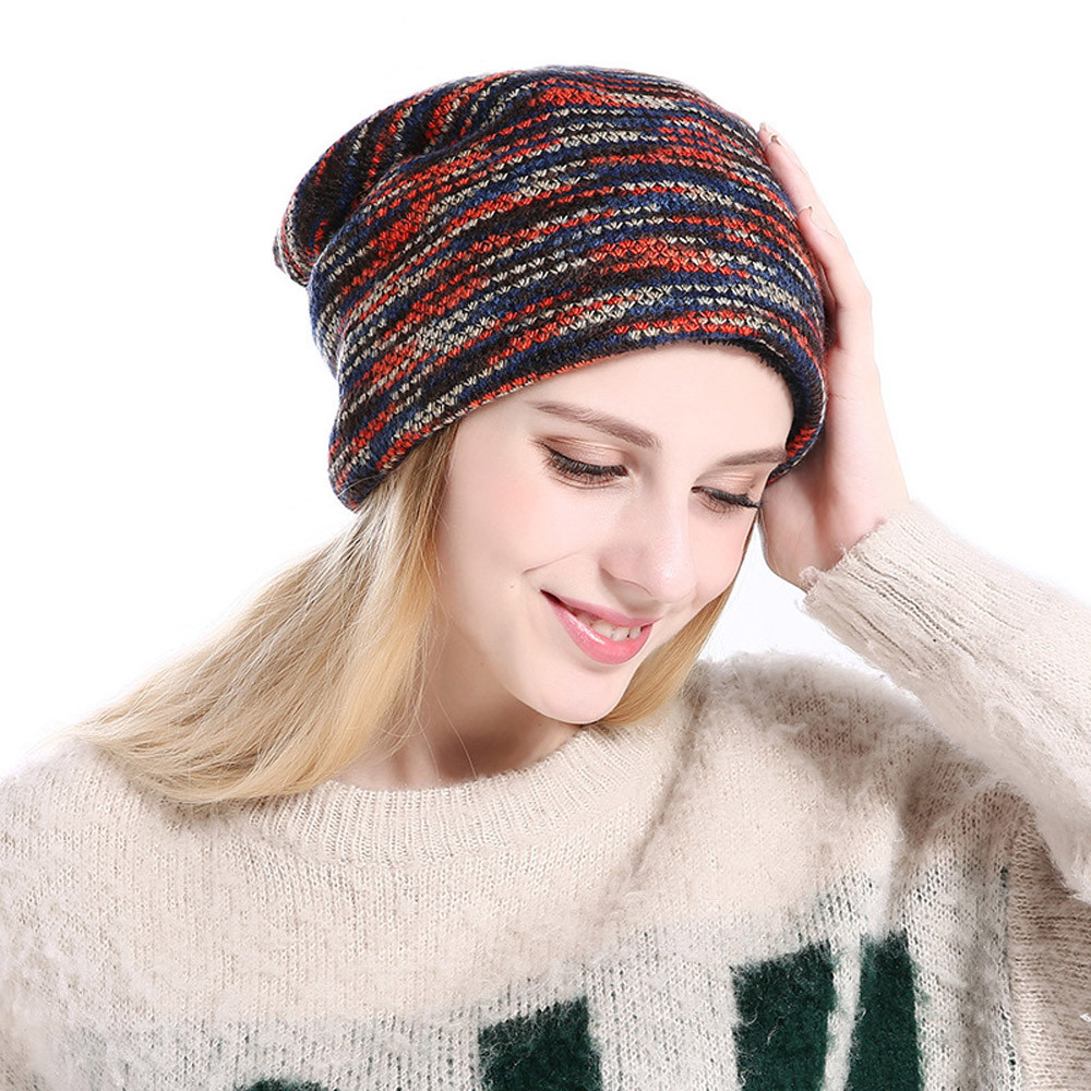 243d48a526c Men women muslim keep warm winter crochet hats knitted wool hemming cap  women s winter hats