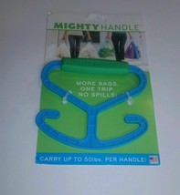 MIGHTY HANDLE More Bags, One Trip Bag Holder - Holds 50 Pounds/ FREE SHI... - £6.35 GBP