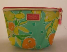 Lilly Pulitzer For Estee Lauder Makeup Cosmetic Bag Lemon Orange - $12.29