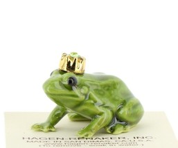Birthstone Frog Prince August Simulated Peridot Miniatures by Hagen-Renaker