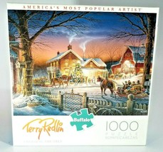 Buffalo Games Puzzle Trimming the Tree Terry Redlin 1000 Pieces #11587 - $22.76