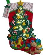 Bucilla Christmas Tree Surprise Bear Toys Gifts Lighted Felt Stocking Ki... - $43.95