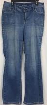 Lane Bryant Boot cut Pants Sz 14 Blue Jeans - $12.41