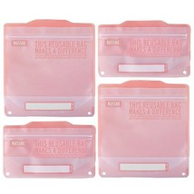 Russbe Lunch Systems, Reusable Snack and Sandwich Bags, Pink Statement - $14.82 CAD