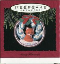 1993 - New in Box - Hallmark Christmas Keepsake Ornament - Snowy Hideaway - $4.00