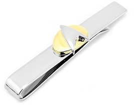 Officially Licensed Star Trek Two Tone Gold On Silver Tie Bar Starfleet Badge - $94.96