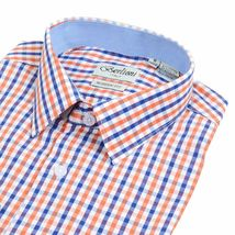 Berlioni Italy Men's & Boys Premium Yarn Dyed Luxe Cotton Dress Shirt Modern Fit image 9
