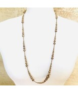 Vintage Brass Bead Necklace Excellent Condition - $33.76
