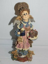 Folkstone Collection By Boyds Bears Auntie Cocoa M. Maximus Chocolate Angel - $24.70