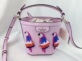 NWT KATE SPADE Flock Party Parrot Bucket Bag Leather Crossbody WKRU6840 ... - $199.99