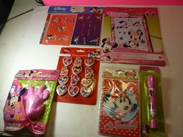 Disney Minnie Mouse 6 Piece Lot- Pen, Diary, Erasers and More - $14.84