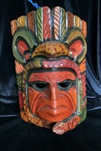 Wood Carved Indian Hanging Face Mask - $75.00