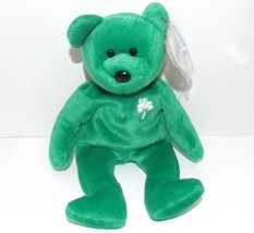 "1997 Ty Beanie Baby ""Erin"" Irish Bear: China Made w/P.E. Pellets - $17.00"