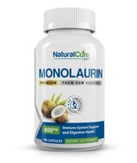 Natural Cure Labs Premium Monolaurin 600mg, 100 Capsules - $22.95
