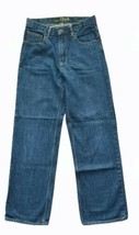 Gap Kids 1969 Boys Blue Jeans 16 Regular Loose Adjustable Waist Denim Dark Wash - $16.14