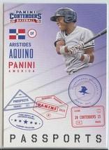 Aristides Aquino Rc 2015 Panini Contenders Passports #2 Reds Baseball Cards Mlb - $7.99