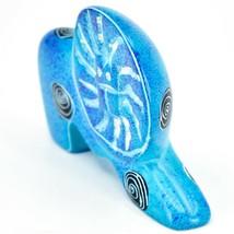 Crafts Caravan Hand Carved Soapstone Speckled Blue Lion Figurine Made in Kenya image 2