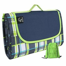"""Green Outdoor Picnic Blanket Waterproof Extra Large - 79""""x79""""/75"""" w Tote... - $295,58 MXN"""