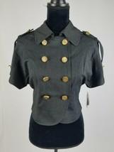 Baby Phat women M bolero blazer short sleeve double breasted jacket pins... - $44.55