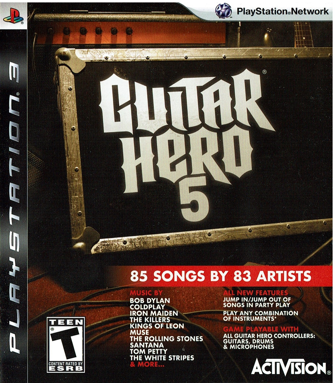Guitar Hero 5, Playstation 3, PS3, (BLUS-30292B)