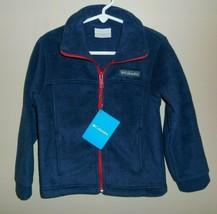 Columbia Birch Falls Fleece Jacket Boys Size XXS Blue New Coat - $27.71