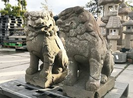 Antique Edo Period Japanese Komainu Foo Dogs Shishi Lion Dogs Set - 0701... - $5,450.00