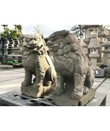 Antique Edo Period Japanese Komainu Foo Dogs Shishi Lion Dogs Set - 0701... - $5,450.00