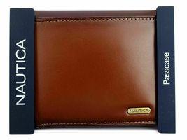 Nautica Men's Premium Leather Credit Card Id Wallet Billfold Tan 31Nu22X023 image 3
