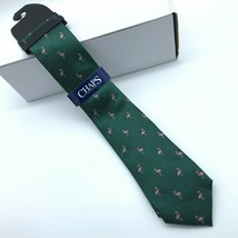 Chaps Men Flamingo in a Santa Hat Holiday Christmas Tie New - $17.89