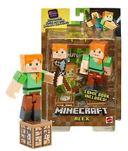Minecraft Alex with Crafting Table, Stone Axe, Head & Comic Book NIP - $19.88