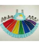 NEW Boutique Rainbow Girls Sleeveless Ruffle Twirl Dress 3T 4T 5-6 7-8 - $19.99