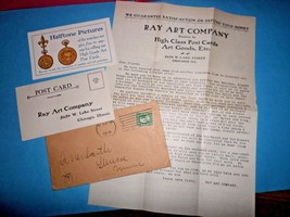 Ray Art Post Card Company Dealer Information 1910 Postcard Ephemera  - $5.00