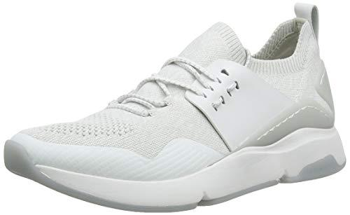 Cole Haan Women's Zerogrand All-Day Trainer, White Optic White/Glacier Grey Knit