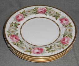 1969 Set (4) Royal Worcester ROYAL GARDEN PATTERN Salad Plates MADE IN E... - $71.27