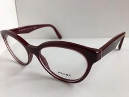 New PRADA VPR R11 UAN-1O1 52mm Burgundy Cats Eye Women Eyeglasses Frame ... - $99.99