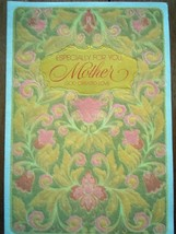 Hallmark Especially For You Mother God Created Love Felt Embossed Card Used1964 - $2.99