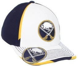 New Buffalo Sabres Reebok Center Ice Size Small-Medium S/M White NHL Hat... - $13.81