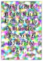 "NEW! 15""x12"" stencil Text Set 01 Airbrush Stencil - $14.01"