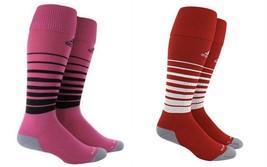 adidas Team Speed OTC Soccer Socks - Unisex Men's or Women's, Pink or Re... - $11.95