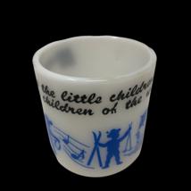 Vintage Milk Glass Mug Jesus Loves the Little Children of World Hazel Atlas - $19.78