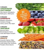 Grown American Superfood 31 Organic Whole Fruits and Vegetables Concentr... - $128.97