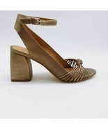 Bernardo Womens Nadia Ankle Strap Sandals Metallic Block Heel Buckle 9.5... - $47.91