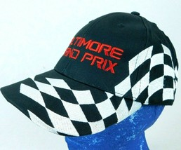 Baltimore Grand Prix Black Baseball Cap Hat Checkered Flag Box Shipped - $11.99