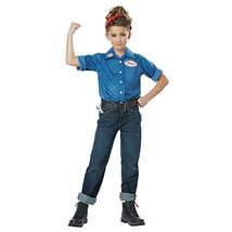 Rosie the Riveter WWII 40's Woman Worker Fancy Dress Up Halloween Child Costume - $24.45