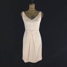 Talbots Dress 2 P Sm Blush Pink Peach Sheath Pleat Waist Lined Pretty NICE - $29.95