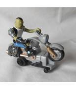 Spongebob villain figure Dennis on motorcycle slot car racetrack motorcycle - $15.00