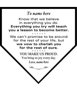 Personalized Large Home Plate Plaque To Daughter, Son, Granddaughter, Gr... - $49.95